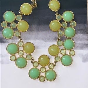 Green & Yellow Crystal Necklace